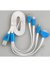 CallOne USB Charging Cable 4 in 1 Long, white