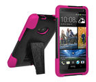 Amzer Double Layer Hybrid Cover with Kickstand for HTC One, pink