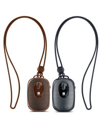 iBall Music Dangle Bluetooth Portable Wireless Speaker With Mic, black and brown