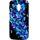 Casotec Butterfly pattern Design Hard Back Case Cover for Motorola Moto G 2nd Generation