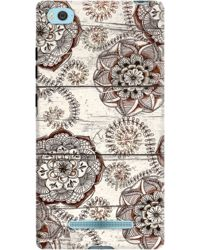 DailyObjects Cocoa Brown And Cream Floral Doodles Case For Xiaomi Mi 4i