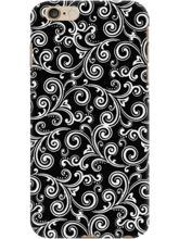 DailyObjects Black And White Swirls Case For IPhon...