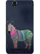 DailyObjects Rainbow Zebra Case For Sony Xperia T2...