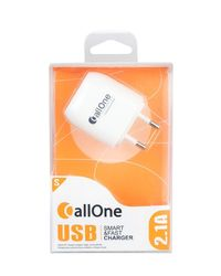 Callone Travel Charger 2 Hub 2Amp,  white