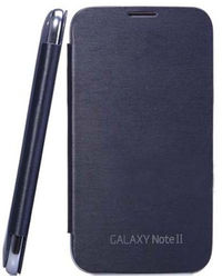 Callmate Nfc Flip Case For Note 2 N7100 With Screen Guard,  black