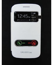 Linkplus Flip Cover For Samsung Galaxy Core I 8262 Window, White