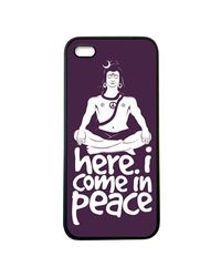 Snoogg Mobile Case Print Design - Here. I Come in Peace For Apple iPhone5 & 5S,  purple