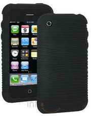 Amzer 86631 Wave Silicone Skin Jelly Case-Black for iPhone 3G/ iPhone 3GS