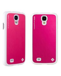 TOTU Color Aluminum II Cover for Samsung S4, white pink