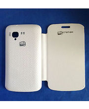 Linkplus Flip Cover For Micromax Bolt A 34, White