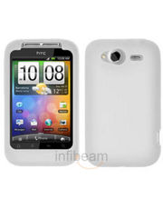 Amzer Silicone Skin Jelly Case - Transparent White For HTC Wildfire S