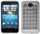 Amzer Luxe Argyle High Gloss TPU Soft Gel Skin Case - Clear - HTC Desire HD (Clear)