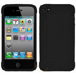 Amzer Silicone Skin Jelly Case - Black For iPhone 4, standard-black