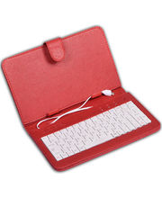 DGB Type Tablet Keyboard With Case And Stand (Micro USB) (Red), Red