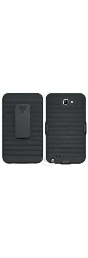 Amzer Shellster - Black For Samsung Galaxy Note (Black)