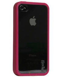 Gecko iPhone 4G Vision Pink / Clear with Anti-Glare Guard, standard-red