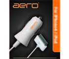 Aero Premium in-car charger for iPhone4 & iPod, white