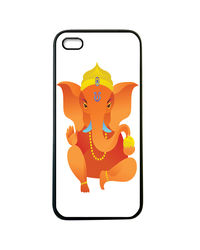 Snoogg Mobile Case Print Design - Lord Ganpati For Apple iPhone5 & 5S,  orange