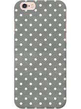 DailyObjects Dark Gray Swiss Dots Case For IPhone ...