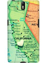 DailyObjects California On Map Case For OnePlus On...