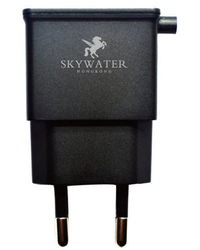 Skywater Travel Charger with 1 Extra USB port to charge two devices at a time Output: 2.1A,  black