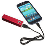 Callmate 2600 mAh Metal Power Bank, multicolor