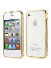 Callmate Diamond Bumper for iPhone 4/4S with Free Screen Guard, golden