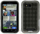 Amzer Luxe Argyle High Gloss TPU Soft Gel Skin Case - Motorola DEFY MB525