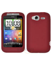Amzer Silicone Skin Jelly Case - Red For HTC Wildfire S