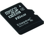 Kingston 16GB microSDHC Class 4 Memory Card
