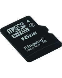 Kingston Micro SD Card, 16 gb, standard-black