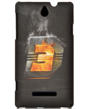 IAccy Dhoom 3 D3 Logo Case For Sony Xperia E, Multicolor