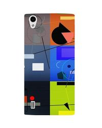 Casotec Abstract Figure Design Hard Back Case Cover for VIVO Y15