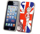 Bling TPU IML Cover UK Print - iPhone 5 (Multicolor)