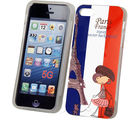 Bling TPU IML Cover France Print - iPhone 5 (Multicolor)