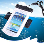 Callmate Universal Waterproof Bag with Armband/Lanyard for iPhone/Cell Phone, white