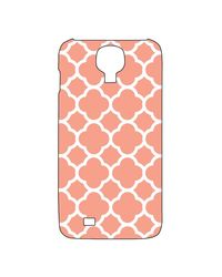 Snoogg Mobile Case Print Design - Motif Print Pink For Samsung S4,  white