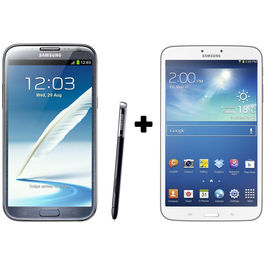 Hdfc Samsung Galaxy Note2-Grey+ Galaxy Tab3 16 GB with Premium Headset Combo,  white