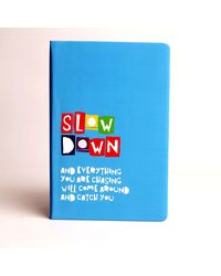 Doodle Slow Down Diary, blue