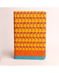 Doodle Elephant Pattern Diary, multicolor