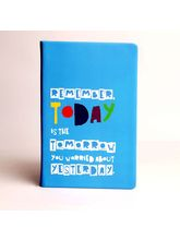 Doodle Remember Today Diary, blue