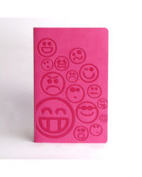 Doodle Smiley Diary, pink