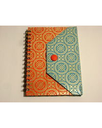 Paper Theatre Eco Friendly Button Wiro Journal - 390880, multicolor