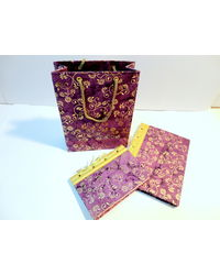 Paper Theatre Eco Friendly Two Note Book Set With Gift Bag - 390313, multicolor