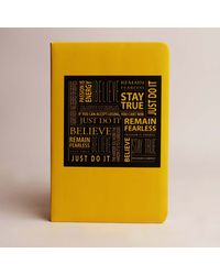 Doodle Stay True Diary, yellow