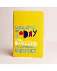 Doodle Remember Today Diary, yellow