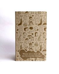 Doodle Favourites Diary, beige