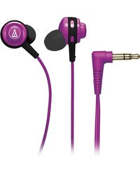Audio Technica ATH-COR150 Stereo Dynamic Headphone Wired Headphones (Light Green, In the Ear),  purple