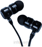 Tekfusion Twinwoofers In Ear Headphones Black Chrome
