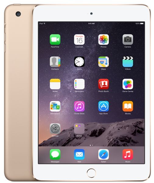 Apple iPad Mini 3 with Retina Display Wifi, 64 GB Gold
